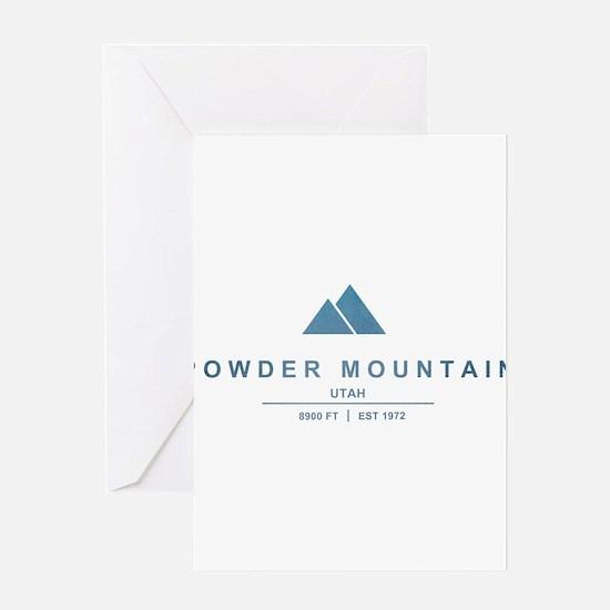 Powder Mountain Ski Resort Utah Greeting Cards