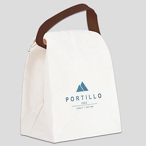 Portillo Ski Resort Chile Canvas Lunch Bag