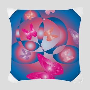 ROMANTIC ASTRACT Woven Throw Pillow