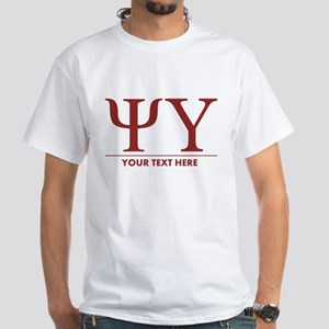 This design includes the Psi Upsilon White T-Shirt