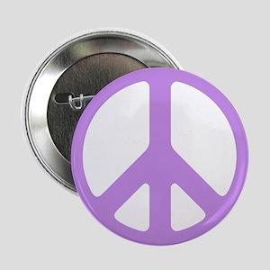 Lavender Peace Sign Button
