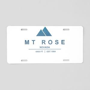 MT Rose Ski Resort California Aluminum License Pla