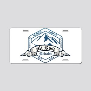 MT Rose Ski Resort Nevada Aluminum License Plate