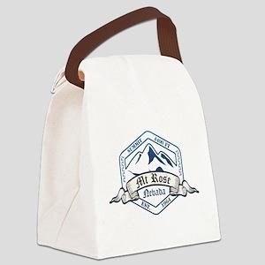 MT Rose Ski Resort Nevada Canvas Lunch Bag
