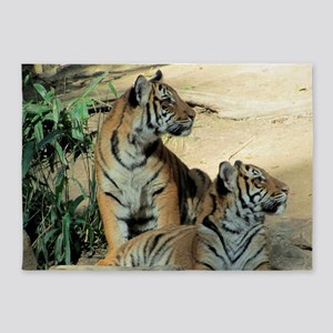 TIGER LOVE 5'x7'Area Rug