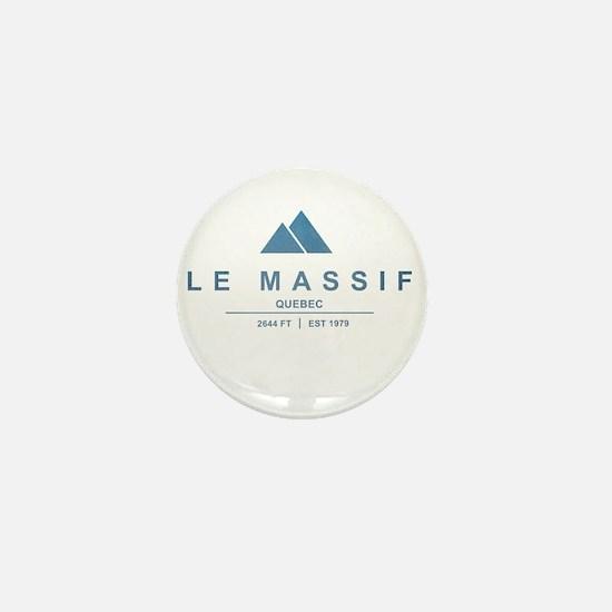 Le Massif Ski Resort Quebec Mini Button