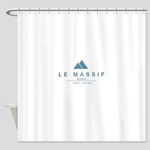 Le Massif Ski Resort Quebec Shower Curtain