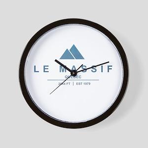 Le Massif Ski Resort Quebec Wall Clock