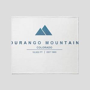 Durango Mountain Ski Resort Colorado Throw Blanket