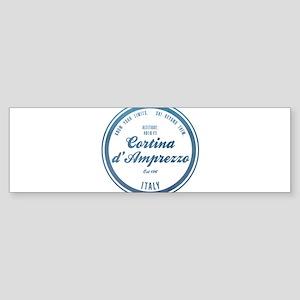 Cortina D Ampezzo Ski Resort Italy Bumper Sticker