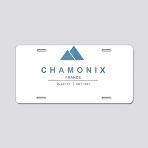 Chamonix Ski Resort France Aluminum License Plate