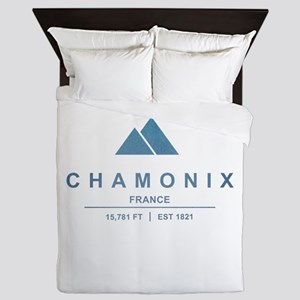 Chamonix Ski Resort France Queen Duvet