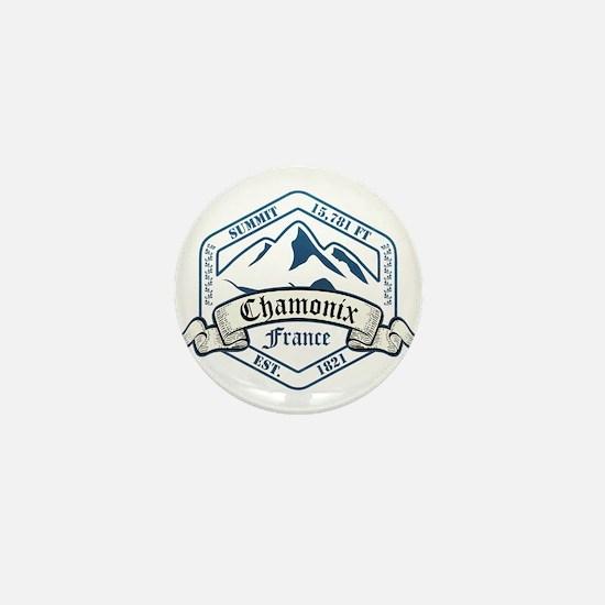 Chamonix Ski Resort France Mini Button