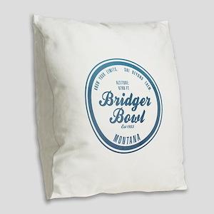 Bridger Bowl Ski Resort Montana Burlap Throw Pillo