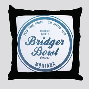 Bridger Bowl Ski Resort Montana Throw Pillow