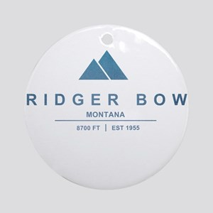 Bridger Bowl Ski Resort Montana Ornament (Round)