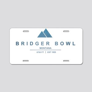 Bridger Bowl Ski Resort Montana Aluminum License P