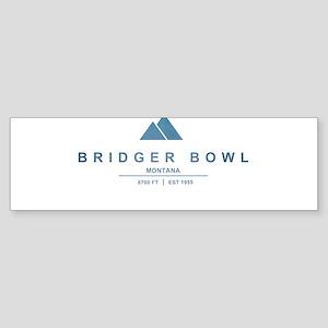 Bridger Bowl Ski Resort Montana Bumper Sticker
