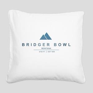Bridger Bowl Ski Resort Montana Square Canvas Pill