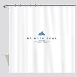 Bridger Bowl Ski Resort Montana Shower Curtain