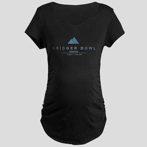 Bridger Bowl Ski Resort Montana Maternity T-Shirt