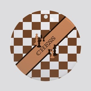 Chess Pennant Ornament (Round)