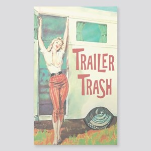 Trailer Trash Sticker (Rectangle)
