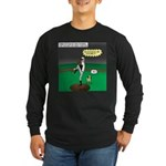 Baseball Dog Long Sleeve Dark T-Shirt