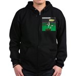 Baseball Dog Zip Hoodie (dark)