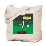 Baseball Dog Tote Bag