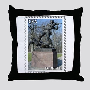 Mississippi Monument - Gettysburg Throw Pillow