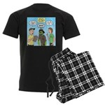 Zombie Scout Menu Planning Men's Dark Pajamas