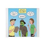 Zombie Scout Menu Planning Throw Blanket