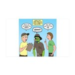Zombie Scout Menu Planning 35x21 Wall Decal