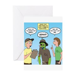 Zombie Scout Menu Planning Greeting Card