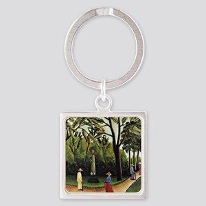 Henri Rousseau: Monument to Chopin Square Keychain