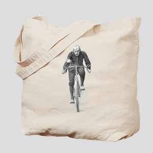 Vintage Cyclist Tote Bag