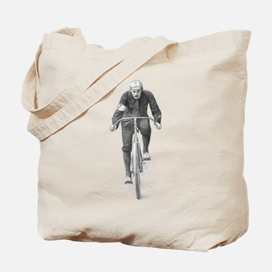 Vintage Cyclist Tote Bag