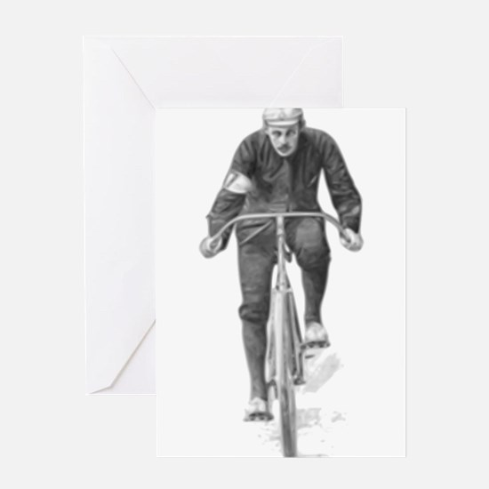 Vintage Cyclist Greeting Cards