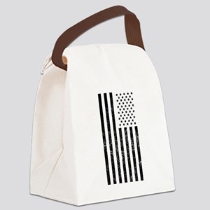 Distressed American Flag Canvas Lunch Bag