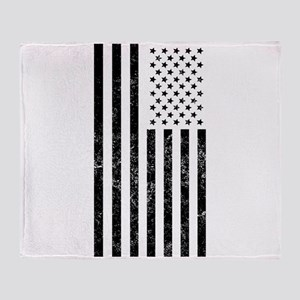 Distressed American Flag Throw Blanket