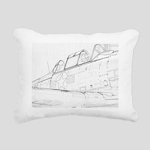 Aviation Sketch Rectangular Canvas Pillow