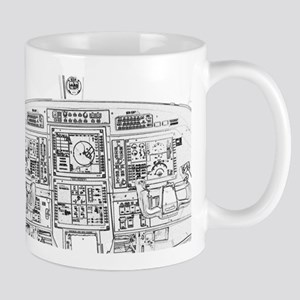 Airplane Instrument Panel Sketch Mugs