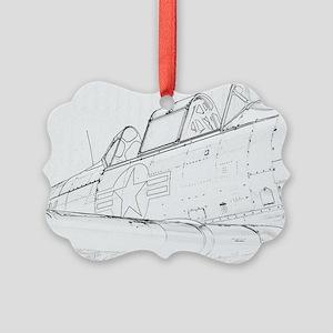 Aviation Sketch Ornament