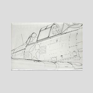 Aviation Sketch Magnets