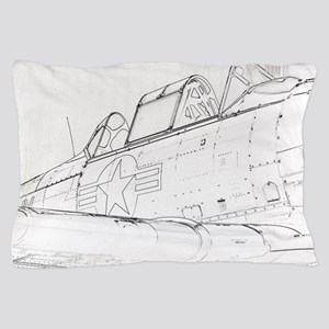 Aviation Sketch Pillow Case