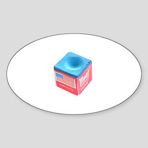 Pool Chalk Oval Sticker
