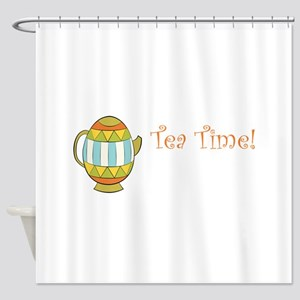 Tea Time Egg Teapot Shower Curtain
