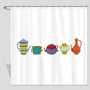 Teapots Shower Curtain