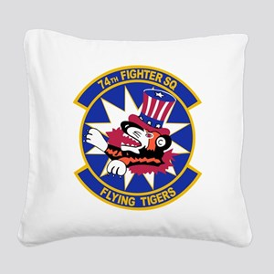 74th_fighter_sq_FLYING_TIGERS Square Canvas Pi